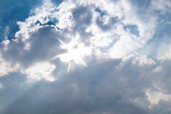Sunlight through the clouds Royalty Free Stock Photo