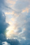 Sunlight and clouds on the sky Stock Photos