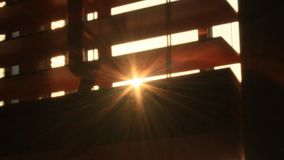 Sunlight through curtains stock footage