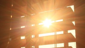 Sunlight through curtains stock video footage