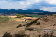 Sunlight. Dramatic Landscape. view from spis castle stock photography