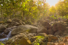 Sunlight effects on stone Royalty Free Stock Photo