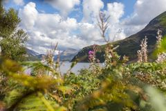 Sunlight on Ennerdale Water, Cumbria, the Lake District, England Stock Photography