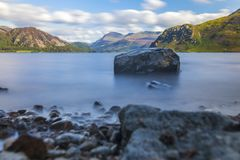 Sunlight on Ennerdale Water, Cumbria, the Lake District, England Royalty Free Stock Image