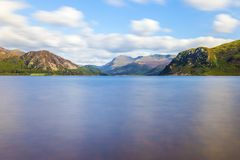 Sunlight on Ennerdale Water, Cumbria, the Lake District, England Royalty Free Stock Images