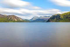 Sunlight on Ennerdale Water, Cumbria, the Lake District, England Royalty Free Stock Photography