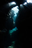 Sunlight Enters an Underwater Cavern Royalty Free Stock Photo