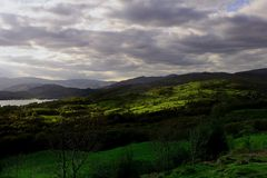Sunlight on the Fells Royalty Free Stock Photo