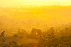 Sunlight golden on mountain Royalty Free Stock Photos