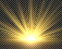 Free Sunlight Isolated. Golden Sun Rays Radiance. Yellow Bright Spotlight Transparent Sunshine Starburst Vector Illustration Royalty Free Stock Photo - 137138135