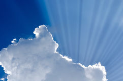 Sunlight leaking from cloud stock images