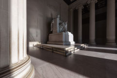 Sunlight at Lincoln Memorial in Washington, DC Royalty Free Stock Photography