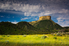 Sunlight In Mesa Verde. Mesa Verde National Park in Colorado beams in the summer sunlight royalty free stock photo