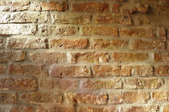 Sunlight on an old brick wall Royalty Free Stock Photography