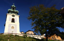 Sunlight on old town of Banska Stiavnica Royalty Free Stock Photo