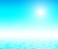 Sunlight over blue gradient. Stock Photography
