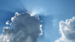 Sunlight over cloud Stock Photos