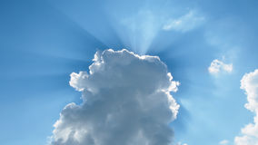 Sunlight over cloud Royalty Free Stock Photography
