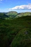 Sunlight over the Deepdale Valley. The Deepdale Valley from Hartsop above How Stock Photos