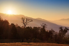 Sunlight over mountain and sky Royalty Free Stock Photography
