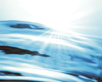 Sunlight Over Water Stock Photography