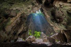 Sunlight through, Prayanakorn Cave at the Sam Roi Yot national park Royalty Free Stock Photography