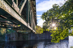 Sunlight, Railway Bridge, River stock photos