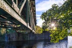 Sunlight, Railway Bridge, River Stock Photos
