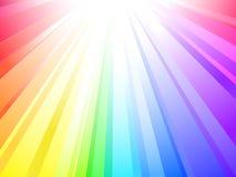 Sunlight (rainbow background) Stock Images