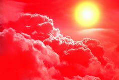 Red Clouds and Sunlight Royalty Free Stock Image