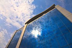 Sunlight Reflected On Office Building Royalty Free Stock Photo
