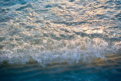 The sunlight that is reflected in the sea water. In Boracay, Philipppines royalty free stock photo