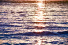 The sunlight that is reflected in the sea water at sunset. In Boracay island, Philippines royalty free stock photos