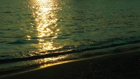 Sunlight Reflections on the beach stock video footage