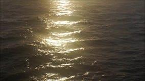 Sunlight Reflections on Calm Ocean stock video