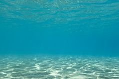 Sunlight reflections underwater. Royalty Free Stock Photo
