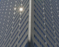 Sunlight reflections in Windows of Skyscraper building Stock Photography