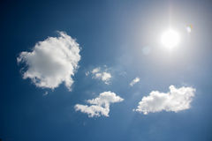Sunlight reflex on clouds Stock Photography