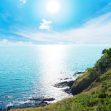 Sunlight reflex on sea Royalty Free Stock Photography
