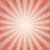 Sunlight retro faded background. Pale red and beige color burst background. Fantasy Vector illustration. Magic Sun beam ray pattern background. Old paper Royalty Free Stock Photography