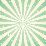Sunlight retro faded grunge background. green and beige color burst background. Vector illustration. Sun beam ray background. Old speckled paper with particles vector illustration