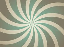 Sunlight retro faded spiral grunge background. shining brown and green color burst background royalty free illustration