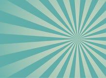 Sunlight retro faded wide background. blue and beige color burst background. vector illustration
