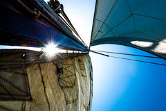 Sunlight through sails Stock Images