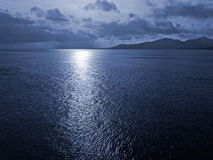 Sunlight on the sea surface. Sunlight reflections on the sea surface Royalty Free Stock Image