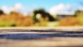 The Sunlight, Shadow and Ground. The street in macro and blur background Royalty Free Stock Photos
