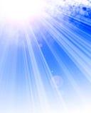 Sunlight shining through cloud Stock Photos