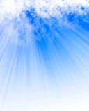 Sunlight shining through cloud Stock Images
