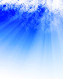 Sunlight shining through clouds. Sunlight shining through cloud formation Stock Images