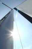 Sunlight shining through sails Stock Photos
